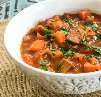 One Pot Spicy Pork & Sweet Potato Stew