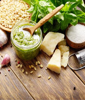 Fresh Basil Pesto Ingredients
