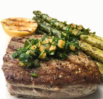 Grilled Tuna Steaks with Lemon Gremolata