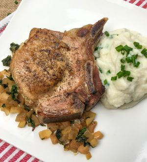 Apple and Rosemary Stuffed Pork Chops