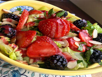 Mixed Berry Salad with Raspberry Vinaigrette